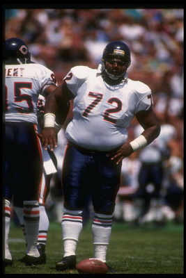 20 Aug 1991: Defensive lineman William Perry of the Chicago Bears looks on during a pre-season game.