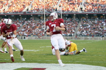 STANFORD - NOVEMBER 15:  Toby Gerhart #7 of the Stanford Cardinals runs the ball during the game against the USC Trojans at Stanford Stadium on November 15, 2008 in Stanford, California. (Photo by: Jed Jacobsohn/Getty Images)