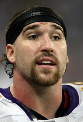 DETROIT - DECEMBER 07:  Jared Allen #69 of the Minnesoa Vikings looks on during the NFL game against the Detroit Lions at Ford Field on December 7, 2008 in Detroit, Michigan. The Vikings defeated the Lions 20-16.  (Photo by Christian Petersen/Getty Images