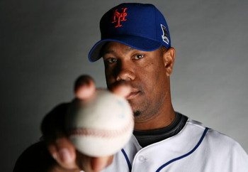 PORT SAINT LUCIE, FL - FEBRUARY 23:  Livan Hernandez #61 of the New York Mets poses during photo day at Tradition Field on February 23, 2009 in Port Saint Lucie, Florida.  (Photo by Doug Benc/Getty Images)