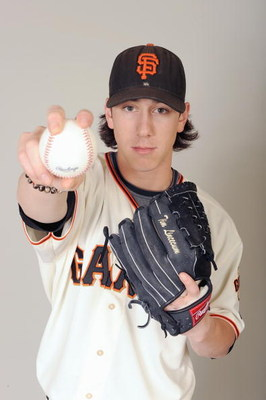 SCOTTSDALE, ARIZONA - FEBRUARY 23: Tim Lincecum of the San Francisco Giants poses during photo day at Scottsdale Stadium on February 23, 2009 in Scottsdale, Arizona. (Photo by: Harry How/Getty Images)