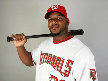 VIERA, FL - FEBRUARY 21:  Willy Mo Pena #26 of the Washington Nationals poses during photo day at Roger Dean Stadium on February 21, 2009 in Viera, Florida.  (Photo by Doug Benc/Getty Images)