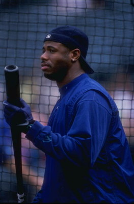2 Jun 1998:  Ken Griffey Jr. #24 of the Seattle Mariners looking on before the game against the Baltimore Orioles at the Camden Yards in Baltimore, Maryland. The Orioles defeated the Mariners 9-8. Mandatory Credit: Jamie Squire  /Allsport