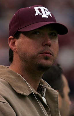 COLLEGE STATION, TX - NOVEMBER 23:  Pitcher Josh Beckett of the Boston Red Sox watches a game between the Texas Longhorns and the Texas A&M Aggies at Kyle Field November 23, 2007 in College Station, Texas.  (Photo by Ronald Martinez/Getty Images)