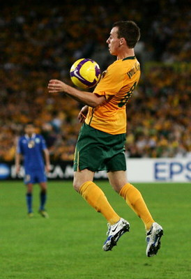 SYDNEY, AUSTRALIA - APRIL 01:  Luke Wilkshire of Australia controls the ball during the 2010 FIFA World Cup qualifying match between Australia and Uzbekistan at ANZ Stadium on April 1, 2009 in Sydney, Australia.  (Photo by Matt King/Getty Images)