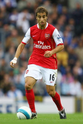 BLACKBURN, UNITED KINGDOM - AUGUST 19:  Flamini of Arsenal in action during the Barclays Premiership league match between Blackburn Rovers and Arsenal at Ewood Park on August 19, 2007 in Blackburn, England.  (Photo by Julian Finney/Getty Images)