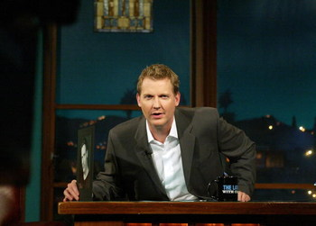 LOS ANGELES - APRIL 13:  ***EXCLUSIVE***  Talk show host Craig Kilborn speaks during a taping of 'The Late Late Show With Craig Kilborn' at CBS Television City April 13, 2004 in Los Angeles, California.  (Photo by Frederick M. Brown/Getty Images)