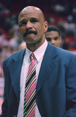 23 Jan 1996:  Head coach John Lucas of the Philadelphia 76ers looks on from the sideline during the 76ers 105-90 loss to the Orlando Magic at the Orlando Arena in Orlando, Florida.   Mandatory Credit: Allsport USA/ALLSPORT