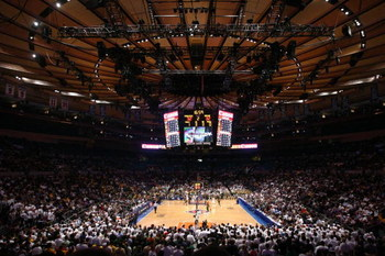 NEW YORK - APRIL 02: A general view during play between the Baylor Bears and the Penn State Nittany Lions in the NIT Championship match at Madison Square Garden on April 2, 2009 in New York, New York.  (Photo by Chris McGrath/Getty Images)