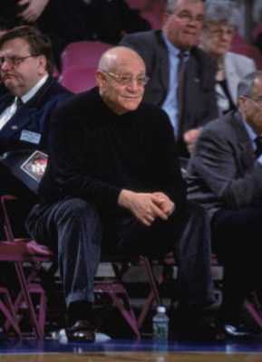 23 Nov 2001:  Head Coach Jerry Tarkanian of the Fresno State Bulldogs looks on from the bench against the Michigan State Spartans during the NCAA game at Madison Square Garden in New York, New York.  Fresno State defeated Michigan State 63-58.Mandatory Cr