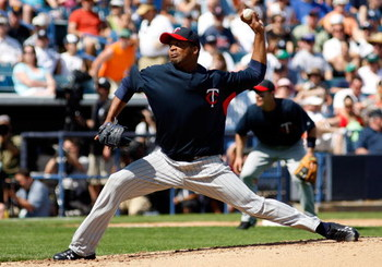 TAMPA, FL - FEBRUARY 28:  Pitcher Francisco Liriano #47 of the Minnesota Twins pitches against the New York Yankees during a Grapefruit League Spring Training Game at George M. Steinbrenner Field on February 28, 2009 in Tampa, Florida.  (Photo by J. Meric