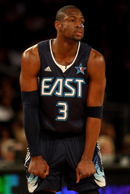 PHOENIX - FEBRUARY 15:  Dwyane Wade #3 of the Eastern Conference looks across the court during the 58th NBA All-Star Game, part of 2009 NBA All-Star Weekend at US Airways Center on February 15, 2009 in Phoenix, Arizona.  NOTE TO USER: User expressly ackno