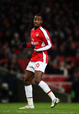 LONDON - JANUARY 03: Johan Djourou of Arsenal during the the FA Cup Sponsored by E.on Third Round match between Arsenal and Plymouth Argyle at Emirates Stadium on January 3, 2009 in London, England.  (Photo by Mark Thompson/Getty Images)