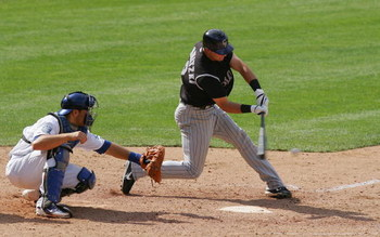 LOS ANGELES, CA - APRIL 27:  Troy Tulowitzki #2 of the Colorado Rockies at bat against the Los Angeles Dodgers at Dodger Stadium on April 27, 2008 in Los Angeles, California.  (Photo by Lisa Blumenfeld/Getty Images)