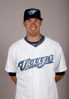 DUNEDIN, FL - FEBRUARY 23:  J.P. Arencibia #9 of the Toronto Blue Jays poses during photo day at the Bobby Mattick Training Center at Englebert Complex on February 23, 2009 in Dunedin, Florida.  (Photo by J. Meric/Getty Images)