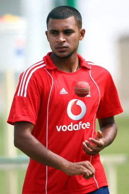 BRIDGETOWN, BARBADOS - FEBRUARY 24:  Adil Rashid of England takes part in a nets session at The Kensington Oval  on February 24, 2009 in Bridgetown, Barbados.  (Photo by Julian Herbert/Getty Images)