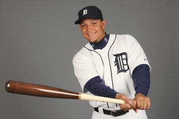 LAKELAND, FL - FEBRUARY 21:  Miguel Cabrera #24 of the Detroit Tigers poses for a portrait during Photo Day on February 21, 2009 at Joker Marchant Stadium in Lakeland, Florida. (Photo by: Nick Laham/Getty Images)