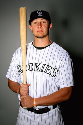 TUCSON, AZ - FEBRUARY 22:  Troy Tulowitzki of the Colorado Rockies poses during photo day at the Rockies spring training complex on February 22, 2009 in Tuscon, Arizona.  (Photo by Matthew Stockman/Getty Images)