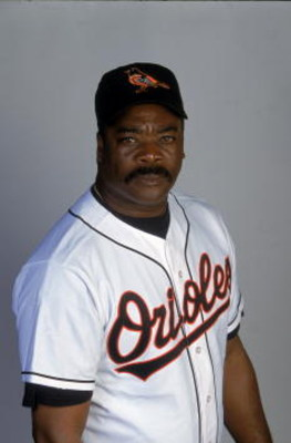 26 Feb 2001:  Eddie Murray of the Baltimore Orioles poses for a studio portrait during Spring Training at the Fort Lauderdale Stadium in Fort Lauderdale, Florida.Mandatory Credit: Ezra Shaw  /Allsport