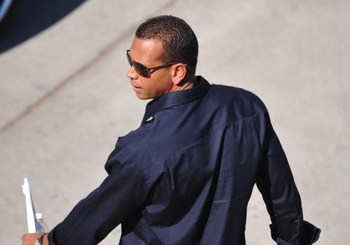 TAMPA - FEBRUARY 17: Infielder Alex Rodriguez of the New York Yankees leaves after speaking at a press conference February 17, 2008 at the George M. Steinbrenner Field in Tampa, Florida. The Yankees third baseman admitted to taking a substance known as 'b