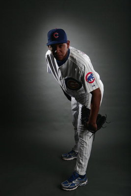 MESA, AZ - FEBRUARY 23:  Carlos Marmol of the Chicago Cubs poses during photo day at the Fitch Park Spring Training complex on February 23, 2009 in Mesa, Arizona. (Photo by Donald Miralle/Getty Images)