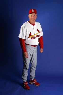 JUPITER, FL - FEBRUARY 26:  Pitching coach Dave Duncan #18 of the St. Louis Cardinals during photo day at Roger Dean Stadium on February 26, 2008 in Jupiter, Florida.  (Photo by Doug Benc/Getty Images)