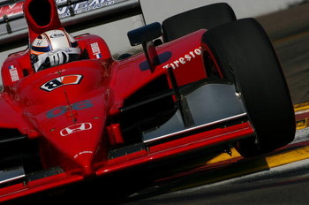 ST. PETERSBURG, FL - APRIL 4: Robert Doornbos drives the # 06 Newman Haas Lanigan Racing Dallara Honda during practice for the IRL IndyCar Series Honda Grand Prix of St. Petersburg on April 4, 2009 on the streets of St. Petersburg, Florida. (Photo by Darr