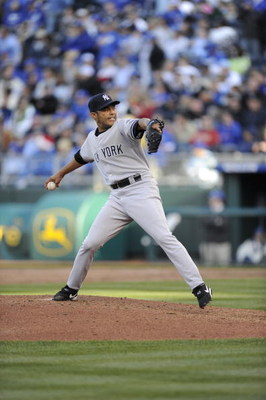 KANSAS CITY, MO - APRIL 10:  Pitcher Mariano Rivera #42 of the New York Yankees pitches during the game against the Kansas City Royals on April 10, 2009 at Kauffman Stadium in Kansas City, Missouri. The Yankees won 4-1. (Photo by G. Newman Lowrance/Getty