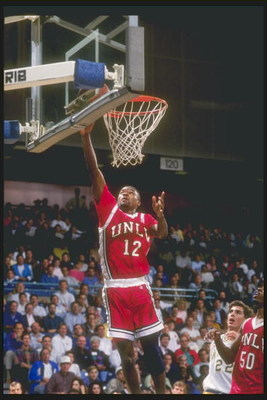 17 Jan 1991: Anderson Hunt of the UNLV Rebels goes up for two during a game against the University of California at Irvine Anteaters.