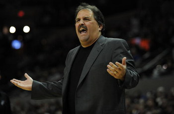 SAN ANTONIO - JANUARY 11:  Head coach Stan Van Gundy of the Orlando Magic during play against the San Antonio Spurs on January 11, 2009 at AT&T Center in San Antonio, Texas.  NOTE TO USER: User expressly acknowledges and agrees that, by downloading and/or
