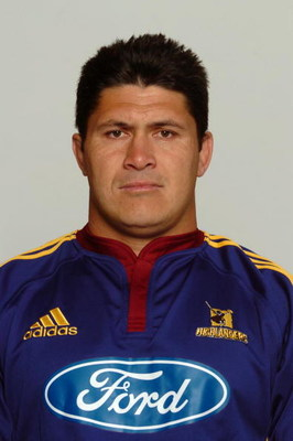 NEW ZEALAND - DECEMBER 30:  Carl Hoeft, Highlanders Super 12 Headshots 2005.  (Photo by Fotopress/Getty Images)