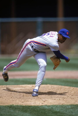 SAN FRANCISCO - 1990:  Dwight Gooden #16 of the New York Mets delivers a pitch during a game against the San Francisco Giants in 1990 at Candlestick Park in San Francisco, California.  (Photo by Otto Greule Jr/Getty Images)
