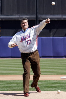 NEW YORK - APRIL 09:  Former New York Mets Keith Hernandez throws out the first pitch before a game against the Philadelphia Phillies during the home opener at Shea Stadium on April 9, 2007 in the Flushing neighborhood of the Queens borough of New York Ci