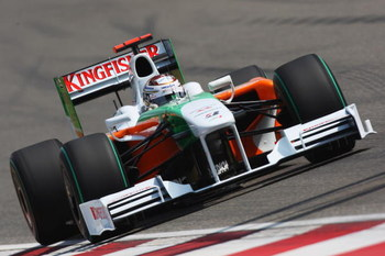 SHANGHAI, CHINA - APRIL 18:  Adrian Sutil of Germany and Force India drives during qualifying for the Chinese Formula One Grand Prix at the Shanghai International Circuit on April 18, 2009 in Shanghai, China.  (Photo by Mark Thompson/Getty Images)