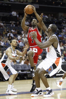 CHARLOTTE, NC - MARCH 3:  Ben Gordon #7 of the Chicago Bulls makes a layup against the Charlotte Bobcats during their game at Time Warner Cable Arena on March 3, 2009 in Charlotte, North Carolina.  NOTE TO USER: User expressly acknowledges and agrees that