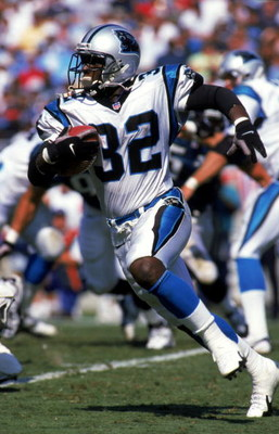 19 Sep 1999: Fred Lane #32 of the Carolina Panthers carries the ball during the game against the Jacksonville Jaguars at the Ericsson Stadium in Charlotte, North Carolina. The Jaguars defeated the Panthers 22-20. Mandatory Credit: Craig Jones  /Allsport