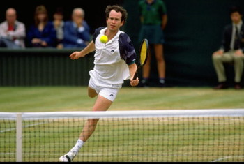 Jun-Jul 1989:  John McEnroe of the USA in action during the Lawn Tennis Championships at Wimbledon in London. \ Mandatory Credit: Bob  Martin/Allsport