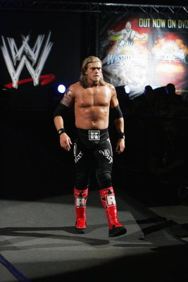 SYDNEY, AUSTRALIA - JUNE 15:  World Heavyweight Champion Edge walks to the ring during WWE Smackdown at Acer Arena on June 15, 2008 in Sydney, Australia.  (Photo by Gaye Gerard/Getty Images)