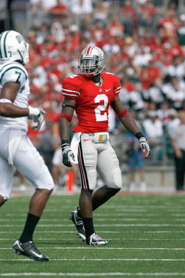 COLUMBUS, OH - SEPTEMBER 06:  Malcolm Jenkins #2 of the Ohio State Buckeyes moves on the field during the game against the Ohio Bobcats at Ohio Stadium on September 6, 2008 in Columbus, Ohio.  (Photo by Kevin C. Cox/Getty Images)