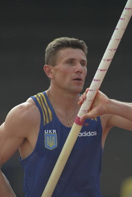 10 Aug 1997:  Sergey Bubka of the Ukraine prepares for his run up during the Pole Vault event at the World Championships at the Olympic Stadium in Athens, Greece. Bubka won the gold medal. \ Mandatory Credit: Gary M Prior/Allsport