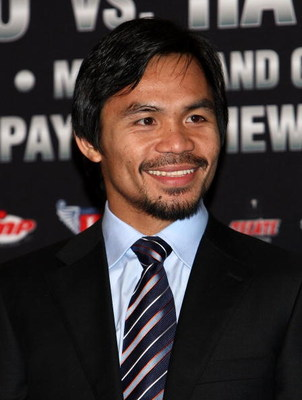 HOLLYWOOD - MARCH 30:  Professional boxer Manny Pacquiao attends 'The Battle of East and West', a promotion for the May 2, 2009 World Junior Welterweight Championship boxing match held at the Roosevelt Hotel on March 30, 2009 in Hollywood, California.  (P