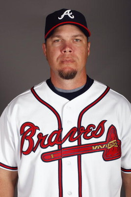 LAKE BUENA VISTA, FL - FEBRUARY 19:  Infielder Chipper Jones #10 of the Atlanta Braves poses for a photo during Spring Training Photo Day on February 19, 2009 at Champions Stadium at Walt Disney World of Sports in Lake Buena Vista, Florida.  (Photo by Chr