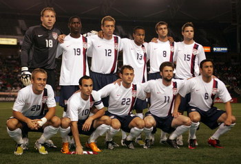CARSON, CA - JANUARY 19:  Members of the USA men's national soccer team pose for a team photo prior to their International Friendly match against Sweden at the Home Depot Center on January 19, 2008 in Carson, California. USA defeated Sweden 2-0.  (Photo b