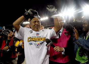 TAMPA, FL - FEBRUARY 01:  Wide receiver Hines Ward #86 of the Pittsburgh Steelers is over come with emotion as he celebrates on the field after the Steelers won 27-23 against the Arizona Cardinals during Super Bowl XLIII on February 1, 2009 at Raymond Jam