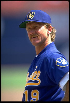 6 APR 1993:  A PORTRAIT OF ROBIN YOUNT, OUTFIELDER FOR THE MILWAUKEE BREWERS, TAKEN BEFORE THEIR GAME AGAINST THE CALIFORNIA ANGELS AT ANAHEIM STADIUM IN ANAHEIM, CALIFORNIA.  MANDATORY CREDIT: STEPHEN DUNN/ALLSPORT.