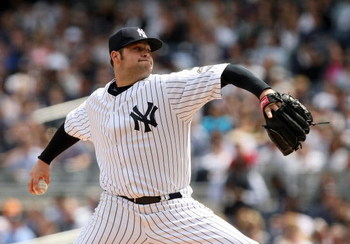 NEW YORK - APRIL 17:  Starting pitcher Joba Chamberlain #62 of the New York Yankees pitches against the Cleveland Indians at Yankee Stadium on April 17, 2009 in the Bronx borough of New York City.  (Photo by Ezra Shaw/Getty Images)