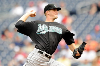 WASHINGTON - APRIL 19:  Chris Volstad #41 of the Florida Marlins pitches against the Washington Nationals at Nationals Park April 19, 2009 in Washington, DC.  (Photo by Greg Fiume/Getty Images)