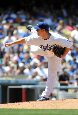 LOS ANGELES, CA - MAY 03:  Chad Billingsley #58 of the Los Angeles Dodgers pitches against the San Diego Padres during the third inning at Dodger Stadium on May 3, 2009 in Los Angeles, California.  (Photo by Harry How/Getty Images)