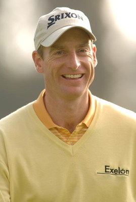 UNITED STATES - FEBRUARY 15:  Jim Furyk heads for the third tee during the 2006 Nissan Open Pro-Am, Presented by Country at Riviera Country Club in Pacific Palisades, California February 15, 2005.  (Photo by Steve Grayson/Getty Images)