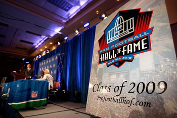 TAMPA, FL - JANUARY 31:  A general view during the The Pro Football Hall of Fame Class of 2009 press conference at the Tampa Convention Center on January 31, 2009 in Tampa, Florida.  (Photo by Streeter Lecka/Getty Images)